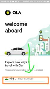 how to book Ola Cab