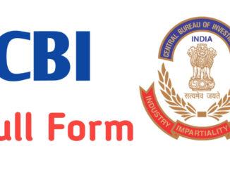 CBI Full Form In Hindi