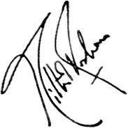 Hrithik Roshan Signature