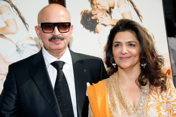 Rakesh Roshan With Pinky Roshan