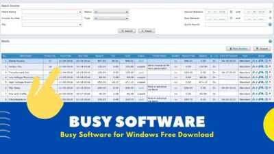[ Accounting ] Busy Software Free Download Full Version for Windows