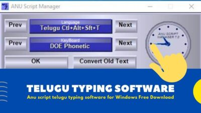 Anu Script Telugu Typing Software for Windows [ Free Download ]