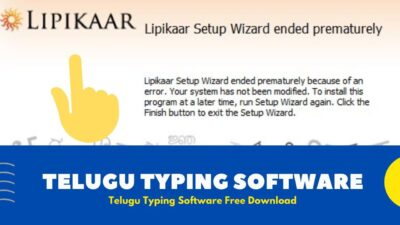 Lipikaar Telugu typing software For Windows [ Free Download 2020 ]