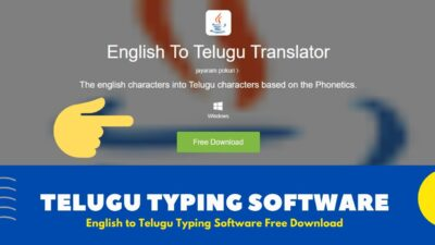 English to Telugu Typing Software For Windows [ Free Download 2020 ]