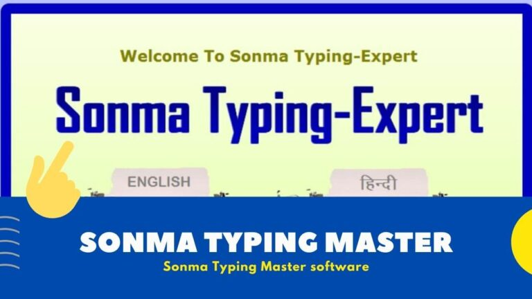 [ Latest ] Sonma Typing Master Software for PC | Hindi Typing Tutor