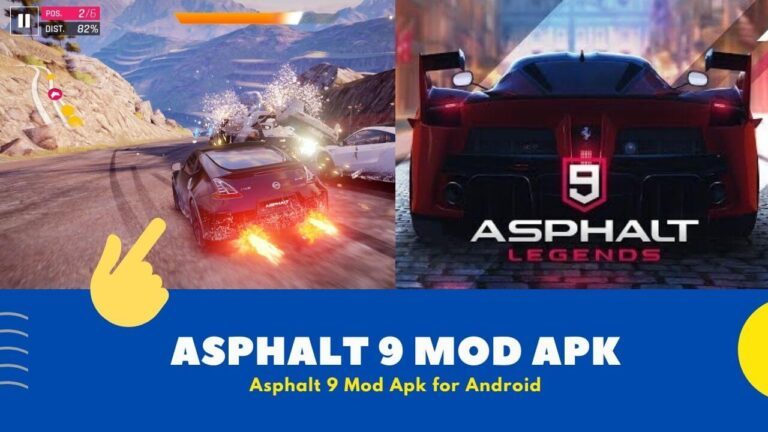 Download Asphalt 9 Mod Apk with { Unlimited Nitro & Speed Hack }