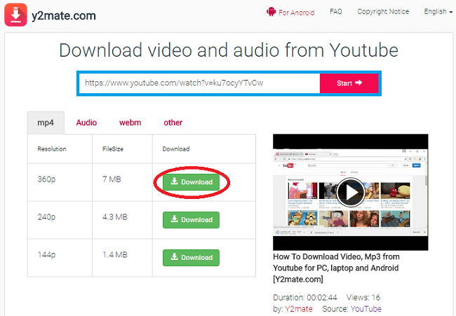 how to download Youtube video without software