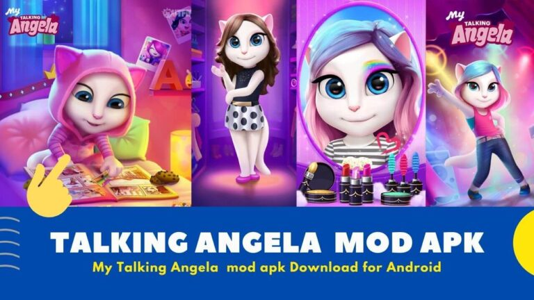Download My Talking Angela Mod Apk {Unlimited Coin and Diamonds}